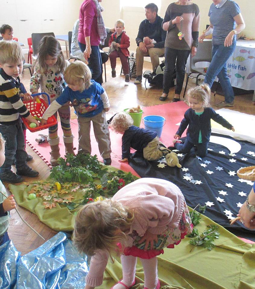 Claines Little Fish children group provides creative play for children under 5 years old