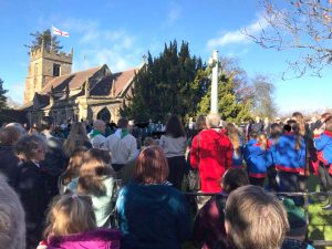 Remembrance day at Claines Church