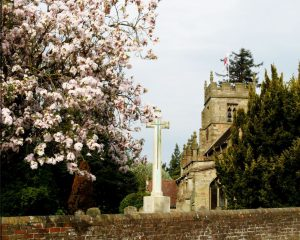 Claines Church in May